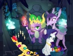 2016 basket blue_eyes candle cave chain chair crown cutie_mark dragon equine female feral fire friendship_is_magic frown fur gem gold_(metal) green_eyes group hair horn inside jewelry male mammal my_little_pony necklace pixelkitties purple_hair rarity_(mlp) rock scalie scepter sculpture slit_pupils smile spike_(mlp) statue throne undead unicorn unknown_character white_fur  Rating: Safe Score: 6 User: ConsciousDonkey Date: April 27, 2016