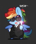 black_background blue_feathers blue_fur clothed clothing crossover english_text equine eyewear fangs feathered_wings feathers female feral friendship_is_magic fur hair lifeloser long_hair mammal men_in_black multicolored_hair multicolored_tail my_little_pony necktie neuralyzer open_mouth pegasus purple_eyes rainbow_dash_(mlp) rainbow_hair rainbow_tail simple_background smile solo suit sunglasses teeth text wingsRating: SafeScore: 16User: DeatronDate: February 12, 2014