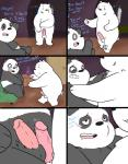 2015 anthro bear bed black_fur blush comic cute dialogue duo english_text erection frottage fur graft_(artist) humanoid_penis ice_bear male male/male mammal multicolored_fur panda panda_(character) penis polar_bear sex smile surprise text two_tone_fur we_bare_bears white_fur  Rating: Explicit Score: 6 User: Kennai Date: October 13, 2015
