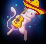 ambiguous_gender cute darkmirage edit feral guitar hat mariachi mew nintendo pokémon red_eyes solo sombrero video_games   Rating: Safe  Score: 11  User: Mew87  Date: February 14, 2014