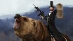 2nd_amendment abraham_lincoln american_flag bear flag gun hat human m4 male mammal open_mouth ranged_weapon sharpwriter snow teeth tongue weapon weaver_rail   Rating: Safe  Score: 9  User: Conker  Date: May 31, 2013