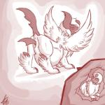 absol blush digital_media_(artwork) duo feathered_wings feathers female mega_absol mega_evolution nintendo penetration pokémon pussy shikaro solo_focus unbirthing vaginal vaginal_penetration video_games vore wings  Rating: Explicit Score: 3 User: Adernity Date: July 24, 2015