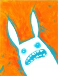 abstract_background ambiguous_gender blue_eyes ear_tuft eyefuck fur lagomorph mammal open_mouth rabbit reaction_image solo soul_devouring_eyes teeth tomhoshino traditional_media_(artwork) tuft white_fur  Rating: Safe Score: 12 User: msc Date: October 10, 2007