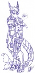 2012 anthro armor cetacean dolphin ear_piercing fish gun hair hybrid male marine piercing pistol plain_background power_armor purple_and_white ranged_weapon riptide riptideshark shark solo weapon   Rating: Safe  Score: 0  User: DharmaDharma  Date: November 22, 2012