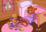 anthro babysitter bear bound clothing crayons disney drawing dress duo female kit lipstick makeup mammal molly paws ribbons shadow talespin tickling torture unknown_artist  Rating: Safe Score: 2 User: bondomunk Date: November 13, 2013