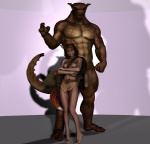 3d_(artwork) animal_humanoid anthro arrow balls big_penis breasts brown_hair canine cgi clothed clothing digital_media_(artwork) duo eyes_closed female fox fox_humanoid hair half-dressed humanoid larger_male male mammal muscular nipples penis pose quiver size_difference smaller_female topless vic34677  Rating: Explicit Score: 3 User: shark Date: February 19, 2011