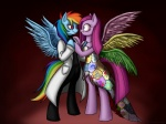 blue_eyes clothed clothing coat cupcakes_(mlp_fanfic) cutie_mark dress duo equine female female/female friendship_is_magic hair hasana-chan horn horse insane mammal multicolored_hair my_little_pony necklace pegasus pink_hair pinkamena_(mlp) pinkie_pie_(mlp) pony purple_eyes rainbow_dash_(mlp) rainbow_factory_(mlp_fanfic) rainbow_hair standing wings   Rating: Safe  Score: 4  User: anthroking  Date: April 25, 2013
