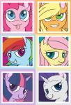 absurd_res applejack_(mlp) equine female fluttershy_(mlp) friendship_is_magic grin group hair hat hi_res horn horse mammal multicolored_hair my_little_pony pinkie_pie_(mlp) rainbow_dash_(mlp) rarity_(mlp) thezealotnightmare tongue tongue_out twilight_sparkle_(mlp) unicorn   Rating: Safe  Score: 10  User: excalibur250  Date: January 19, 2014