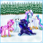 2014 equine female feral friendship_is_magic group horn horse mammal mrfatcakes my_little_pony princess_cadance_(mlp) princess_celestia_(mlp) princess_luna_(mlp) snowman winged_unicorn wings winter  Rating: Safe Score: 8 User: Robinebra Date: October 07, 2014