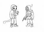 ? animated anthro armor black_and_white bulge cute feline female gas_mask gun human katia_managan khajiit male mammal monochrome prequel ranged_weapon s.t.a.l.k.e.r. the_elder_scrolls video_games weapon  Rating: Safe Score: 18 User: pingpong101 Date: January 26, 2013