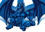 5_fingers 5_toes absurd_res anthro balls beckoning blue_dragon_(character) blue_dragon_(series) blue_skin claws clenched_teeth dragon erection hi_res horn humanoid_penis looking_at_viewer male muscular nipples penis pointing_down red_eyes restricted_palette scalie sitting solo teeth thedirtyshark toes vein veiny_penis western_dragon wings  Rating: Explicit Score: 3 User: playtoomuch Date: January 11, 2015