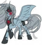 blood creepy equine female final_fantasy final_fantasy_vii glowing_eyes jenova mammal my_little_pony pegasus plain_background ponification solo video_games watermark wings wolfenh   Rating: Safe  Score: 4  User: Sods  Date: March 13, 2014