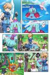 ace_trainer_(pokemon) alomomola angry beach comic female fire forest human lapras lizard male mammal mareanie nintendo pokemoa pokéball pokémon pyukumuku reptile salazzle scalie seaside tentacruel tree tsareena video_games wailmer water