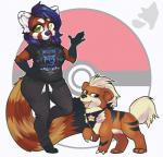 ambiguous_gender anthro clothed clothing female feral fur growlithe hair honesty_(artist) looking_at_viewer mammal nintendo overweight pokémon red_panda smile solo standing video_gamesRating: SafeScore: 0User: Cat-in-FlightDate: February 21, 2017