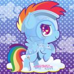 armor blue_feathers blue_fur chibi cloud cute cutie_mark feathers female feral friendship_is_magic fur hair happy looking_at_viewer miss-glitter_(artist) multicolored_hair my_little_pony pattern_background purple_eyes rainbow_dash_(mlp) rainbow_fur rainbow_hair simple_background smile solo wings  Rating: Safe Score: 6 User: SwiperTheFox Date: November 06, 2015