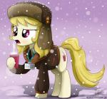 2015 beverage blonde_hair clothing coffee cup cutie_mark equine female food friendship_is_magic hair hat horse id_tag mammal march_gustysnows_(mlp) my_little_pony necktie pony purple_eyes snow snowing solo steam suit the-butcher-x ushanka  Rating: Safe Score: 3 User: 2DUK Date: August 31, 2015