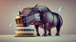 3d_(artwork) ambiguous_gender brush bubble cleaning detailed digital_media_(artwork) feral machine mammal rhinoceros robot solo vehicle wire zhivko_terziivanov