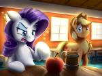 2015 apple applejack_(mlp) drunk duo earth_pony equine female feral friendship_is_magic fruit hat horn horse mammal my_little_pony otakuap pony rarity_(mlp) unicorn  Rating: Safe Score: 17 User: Robinebra Date: June 09, 2015""