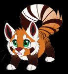 alpha_channel ambiguous_gender brown_fur chibi cute feral fluffy_ears fluffy_tail fur green_eyes long_tail looking_at_viewer mammal orange_fur plain_background red_panda sevech solo standing striped_tail stripes tongue tongue_out transparent_background white_fur   Rating: Safe  Score: 6  User: Emserdalf  Date: May 18, 2015