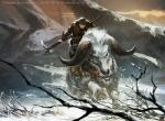 branch caprine charging copyright female feral holding_object holding_weapon hooves horn human landscape looking_at_viewer magic_the_gathering mammal official_art quadruped riding temur tomasz_jedruszek warrior weapon winter  Rating: Safe Score: 2 User: Circeus Date: April 19, 2016