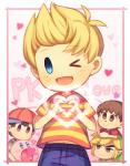 <3 <3_eyes alien animal_crossing clothing crossover earthbound_(series) english_text group hat human human_focus humanoid hylian kirby kirby_(series) lucas_(earthbound) male mammal ness nintendo not_furry one_eye_closed pointy_ears text the_legend_of_zelda toon_link video_games villager_(animal_crossing) waddling_head wink wusagi2Rating: SafeScore: 2User: Cane751Date: February 27, 2018