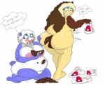 anal anthro anubian_jackal anus bear big_breasts big_butt blpanda breasts butt canine cute dripdry feces female food hair jackal mammal nipples nude obese overweight panda pooping pussy scat solo sweat taco wide_hips  Rating: Explicit Score: -14 User: BLpanda Date: December 02, 2015