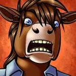 blue_eyes brown_fur brown_hair clothed clothing equine fur hair horse looking_at_viewer male mammal peekaboo ratte reaction_image shocked solo teeth tongue   Rating: Safe  Score: 6  User: Peekaboo  Date: February 13, 2014