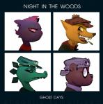 2017 alligator angus_(nitw) anthro bea_(nitw) bear canine cigarette crocodilian eyewear fangs feline fox glasses goggles gorillaz gregg_(nitw) hat mae_(nitw) mammal night_in_the_woods pheoniic reptile scalie simple_background