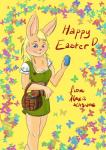 alexis_kitsune arthropod blonde_hair blue_eyes butterfly corset dress easter egg female flower hair holidays insect lagomorph long_ears long_hair looking_at_viewer mammal rabbit smile   Rating: Safe  Score: 5  User: Alexis_Kitsune  Date: April 19, 2014