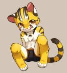 anthro blush chest_tuft clothing cub feline fur male mammal raier sitting solo tongue tongue_out tuft underwear unrealplace young   Rating: Questionable  Score: 9  User: Pokelova  Date: April 02, 2015