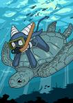 ambiguous_gender bikini clothing demon duo failure_succubus female fish horn marine o-den reptile riding scalie snorkel spade_tail swimsuit turtle underwater water   Rating: Safe  Score: 0  User: ROTHY  Date: March 22, 2015
