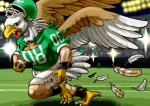 ambiguous_gender american_football anthro avian bald_eagle beak bird claws clothing eagle edmol football_helmet helmet pheagle philadelphia_eagles shirt shorts stadium talons transformation wings  Rating: Safe Score: 1 User: PheagleAdler Date: May 11, 2012