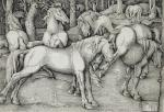 1534 16th_century ancient_furry_art animal_genitalia animal_penis anus balls butt cum cumshot ejaculation equine equine_penis female feral flared_penis forest grass greyscale group half-erect hans_baldung_grien hi_res hooves horse kick license_info male male/female mammal masturbation monochrome nude on_hind_legs open_mouth orgasm outside penis proper_art public_domain raised_tail rejection renaissance signature standing teeth traditional_media_(artwork) tree underhoof woodcut