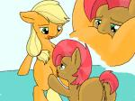 2014 anus applejack_(mlp) babs_seed_(mlp) blonde_hair butt cunnilingus duo earth_pony equine female female/female feral freckles friendship_is_magic fur green_eyes hair horse incest licking mammal multicolored_hair my_little_pony oral orange_fur pony pussy sex tongue tongue_out two_tone_hair vaginal vulapa  Rating: Explicit Score: 6 User: lemongrab Date: July 19, 2014