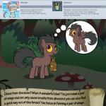 bitterplaguerat bush earth_pony equine forest horse loki_(bitterplaguerat) mammal mushroom my_little_pony pony solo text thinking thought_bubble tree yellow_eyesRating: SafeScore: 0User: Aryanne_HooflerDate: April 25, 2017