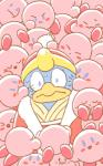 2019 2d_animation alien ambiguous_gender animated avian blush clothing group hat headgear headwear king_dedede kirby kirby_(series) low_res male nintendo nokcha-matcha sweat video_games waddling_head