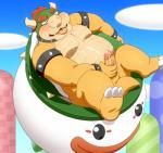 2015 anthro balls belly blush bowser cum cum_on_body cum_on_face cum_on_own_face cum_on_self erection holding_penis horn humanoid_penis koopa male mario_bros nintendo nude open_mouth outside overweight penis penta002 scalie since_when_has_bowser_had_a_nose_instead_of_a_snout solo uncut video_games  Rating: Explicit Score: 10 User: CG550 Date: December 08, 2015
