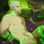 2015 after_sex anthro archmage_khadgar balls bdsm biceps blue_eyes body_hair bondage bound chest_hair claws colored_cum cum cum_on_chest cum_on_penis cum_on_stomach cum_string demon disembodied_penis faceless_male green_cum grey_hair group group_sex hair hands_behind_back human humanoid_penis interspecies magic_user male male/male mammal muscular nipples nude on_ground patto pecs penis sex solo_focus threesome toe_claws toned video_games warcraft world_of_warcraft wrathguard  Rating: Explicit Score: 11 User: Hazzle Date: August 08, 2015
