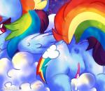 2016 anus butt cloud cutie_mark digital_media_(artwork) equine feathered_wings feathers female feral friendship_is_magic frown fur hair hi_res horse iroxykun looking_at_viewer looking_back mammal multicolored_hair my_little_pony night nude outside pegasus pony pussy pussy_juice rainbow_dash_(mlp) rainbow_hair raised_tail sky solo space wet wings  Rating: Explicit Score: 13 User: iRoxykun Date: April 23, 2016
