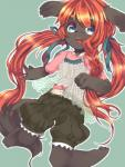 blue_eyes brown_fur canine clothing cute dog female fur hair havemoon long_hair mammal open_mouth red_hair   Rating: Safe  Score: 3  User: KemonoLover96  Date: April 28, 2015