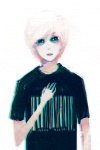 animated barcode creepy empty_eyes hair human male mammal nightmare_fuel not_furry omochai solo white_hair zalgo   Rating: Safe  Score: 3  User: Wtfhmonster  Date: October 17, 2011