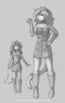 2014 armband belt bethany black_and_white boots cat choker dress feline female gloves hair jay_naylor long_hair long_tail looking_at_viewer mammal monochrome plain_background pose sketch solo straps   Rating: Safe  Score: 6  User: Noah_Black  Date: March 25, 2014