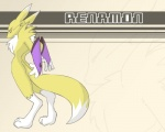 ambiguous_gender anthro bridal_gauntlets canine chest_tuft digimon fox fur hindpaw looking_at_viewer looking_back mammal mylehyena nude paws pink_background renamon simple_background solo standing tuft wallpaper white_fur yellow_fur  Rating: Safe Score: 1 User: RenaKunisaki Date: August 20, 2012