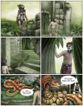 2011 anthro breasts clothed clothing comic dialogue dragon english_text female group hair human male mammal markie naga reptile scalie size_difference snake speech_bubble text   Rating: Safe  Score: 0  User: GameManiac  Date: April 23, 2015