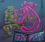 alien anal anal_insertion anal_penetration bdsm bottle bound chain cum deezmo domination duo erection feet hanar hindpaw insertion jellyfish male marine mass_effect orgasm paws penetration penis sitting soles teeth tentacles turian video_games  Rating: Explicit Score: 14 User: h4x0r Date: June 15, 2015