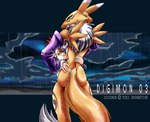 anthro back black_sclera blue_eyes blush butt canine digimon duo female fox hug human kandlin looking_at_viewer looking_back mammal nude protective rear_view renamon rika_nonaka slit_pupils standing storm tattoo video_games young   Rating: Questionable  Score: 5  User: Anomynous  Date: February 28, 2007