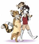 anthro clothing cub dress feline female hair long_hair looking_up male mammal milf mother parent pregnant redpixie serval shirt shorts sleeping smile tiger young  Rating: Safe Score: 4 User: Chibi_Tiger Date: July 28, 2015
