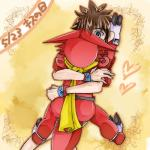 <3 butt digimon duo grey_eyes hug human japanese_text male male/male mammal reptile scalie scarf shoutmon taiki_kudou text みなせまくら   Rating: Questionable  Score: 4  User: Rush123  Date: October 02, 2013