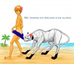 adjuchas beach bleach butt coppertone feline flower grimmjow_jaegerjaquez human ichigo_kurosaki male mammal panther sea seaside shinigami speedo swimsuit water   Rating: Questionable  Score: 0  User: H4CH1W4AN  Date: March 01, 2012