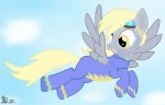 bodysuit clothing derpy_hooves_(mlp) equine female feral friendship_is_magic mammal my_little_pony pegasus skinsuit solo unknown_artist wings wonderbolts_(mlp)   Rating: Safe  Score: 3  User: Ohnine  Date: July 22, 2011
